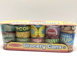Melissa & Doug 10-Pack Grocery Cans Toy Set New